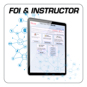 FAA Test Prep Online: Flight and Ground Instructor plus FOI
