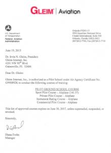 Air Agency Certificate