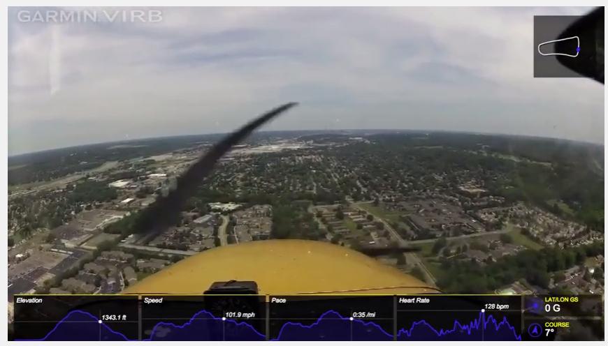 Biometrics data in training flight