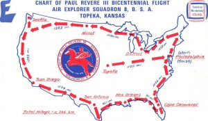 Bicentennial Flight Map