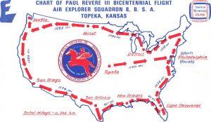 Bicentennial Flight Map