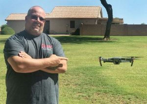 Johnathan Smith with his drone