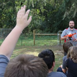 Gleim Aviation talks Drones with High Springs Community School Ag Students