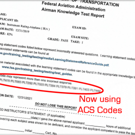 How Instructors Should Use ACS Codes on Knowledge Test Reports