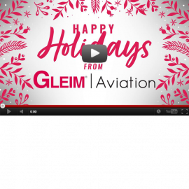 Holiday Greetings from Gleim Aviation